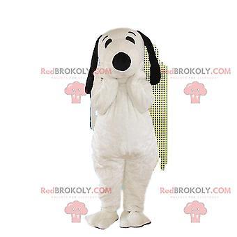 Cosotume Snoopy, Mascot REDBROKOLY.COM av Snoopy, berømte tegneserie hund kostyme