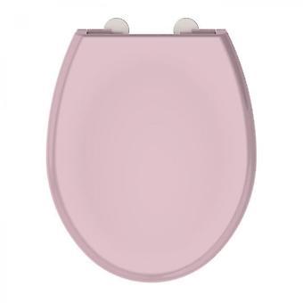 Asiento del inodoro de cierre silencioso de color rosa polvo