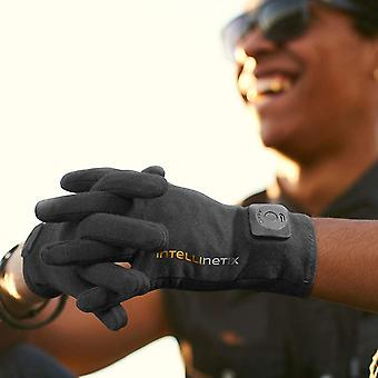 Intellinetix Vibrating Therapy Gloves - Increases circulation and reduces pain(L)(Black)