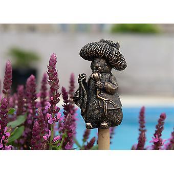 Cane Companions Beatrix Potter Benjamin Bunny Cane Or Stake Topper Bronze Color