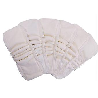 Bamboo Cotton Inserts Washable Baby Cloth Diaper Nappy Waterproof