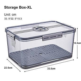 1PC رمادي البلاستيك ثلاجة تخزين الثلاجة منظم حاويات للحم الفاكهة النباتية