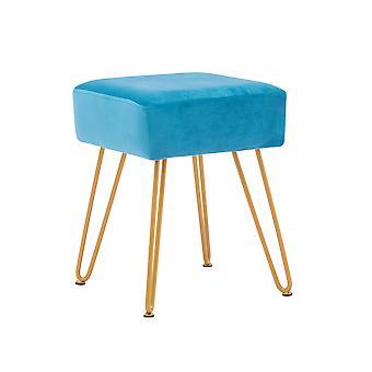 Upholstered Velvet Ottoman,Footrest,Golden Powder Coating Legs Set of 1