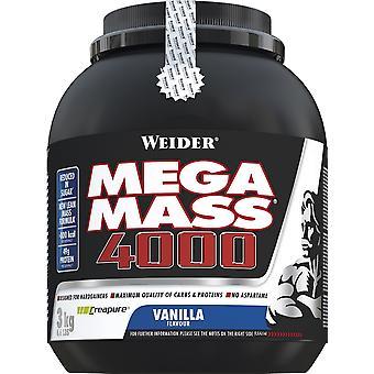 Mega Mass 4000, Strawberry - 3000 grams