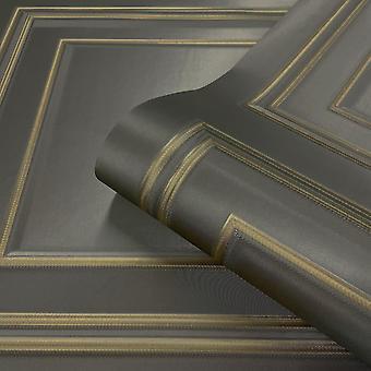 Gold Gunmetal Amara Panel Wallpaper