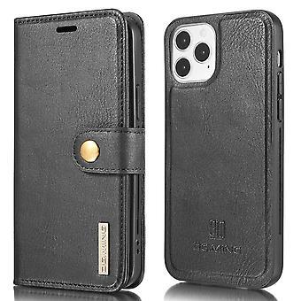 DG.MING iPhone 13 Mini Split Läder Plånboksfodral - Svart