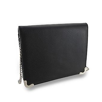 Textured Folding Evening Clutch Wallet w/Removable Shoulder Strap