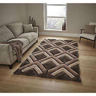 Shaggy - Noble House 8199 Brown  Rectangle Rugs Plain/Nearly Plain Rugs