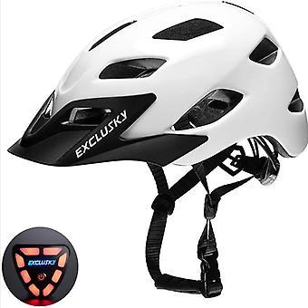 Casque de vélo pour adultes Mimigo avec feu arrière pour navetteur urbain réglable pour hommes / femmes Casque respirant et réglable léger