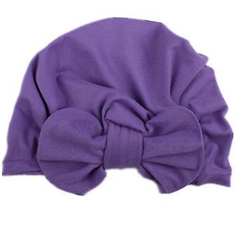 תינוק פעוט שזה עתה נולד טורבן Bowknot Headwrap ילד הודו כובע ביני