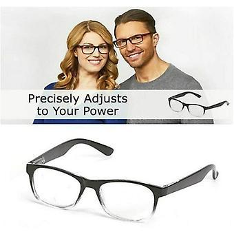 نظارات القراءة القابلة للتعديل مع تركيز مرن وشفاف ، تعديل تلقائي لعدسات القراءة البصرية من 0.5 إلى 2.75