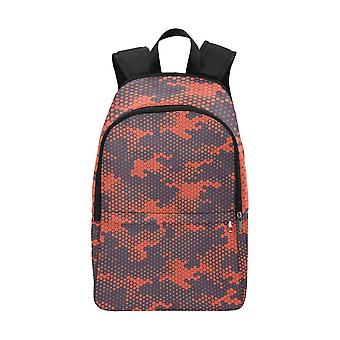 Laptop backpack (nylon) - red camouflage