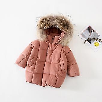 Girls' Cotton Clothing Winter New Girl Baby Mid-length Coat Children's Cotton Clothing Girls Winter Coat