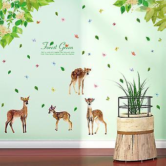 Forest Deer Naklejki ścienne Kid Living Room Decor Tapety Dekoracja