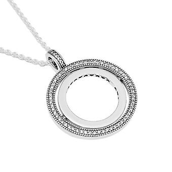 Hollow Round Pendant Necklaces For Women 925 Sterling Silver Necklaces  Necklaces