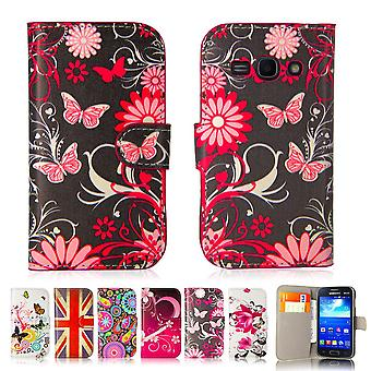 Design book PU leather case cover for Samsung Galaxy Ace 3 (s7270) - Gerbera