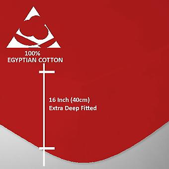 Extra Deep 4 Foot Small Double 200 Thread Egyptian Cotton Fitted Bed Sheets