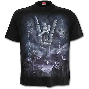 Spiraal-Rock Eternal-mannen korte mouwen t-shirt, zwart