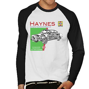 Haynes Owners Workshop Manual 0303 Skoda 110R Men's Baseball Long Sleeved T-Shirt