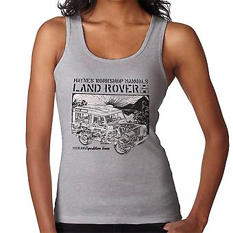 Haynes Owners Workshop Manual Land Rover Sunset Black Women's Vest