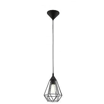 EGLO Tarbes Vintage geometriska svart tak hänge, liten