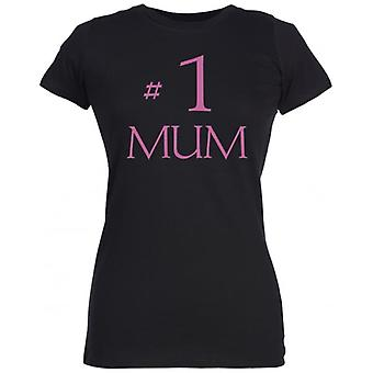 Spoilt Rotten #1 Mum Women's T-Shirt Purple (12-14)