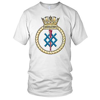 Royal Navy HMS Middleton Mens T-skjorte