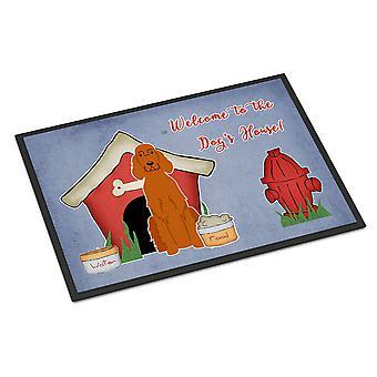 الكلب البيت جمع Setter الأيرلندية الأماكن المغلقة أو في الهواء الطلق حصيرة 24 × 36