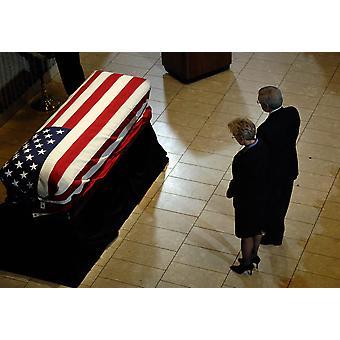 scrigno di lui di ex presidente Gerald R Ford è stato visto durante un memoriale Poster stampa Stocktrek Images