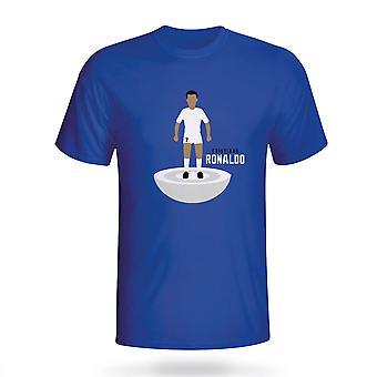 Cristiano Ronaldo Real Madrid Subbuteo Tee (blauw) - Kids