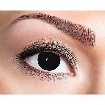 Zwarte blind horror shocker contactlenzen