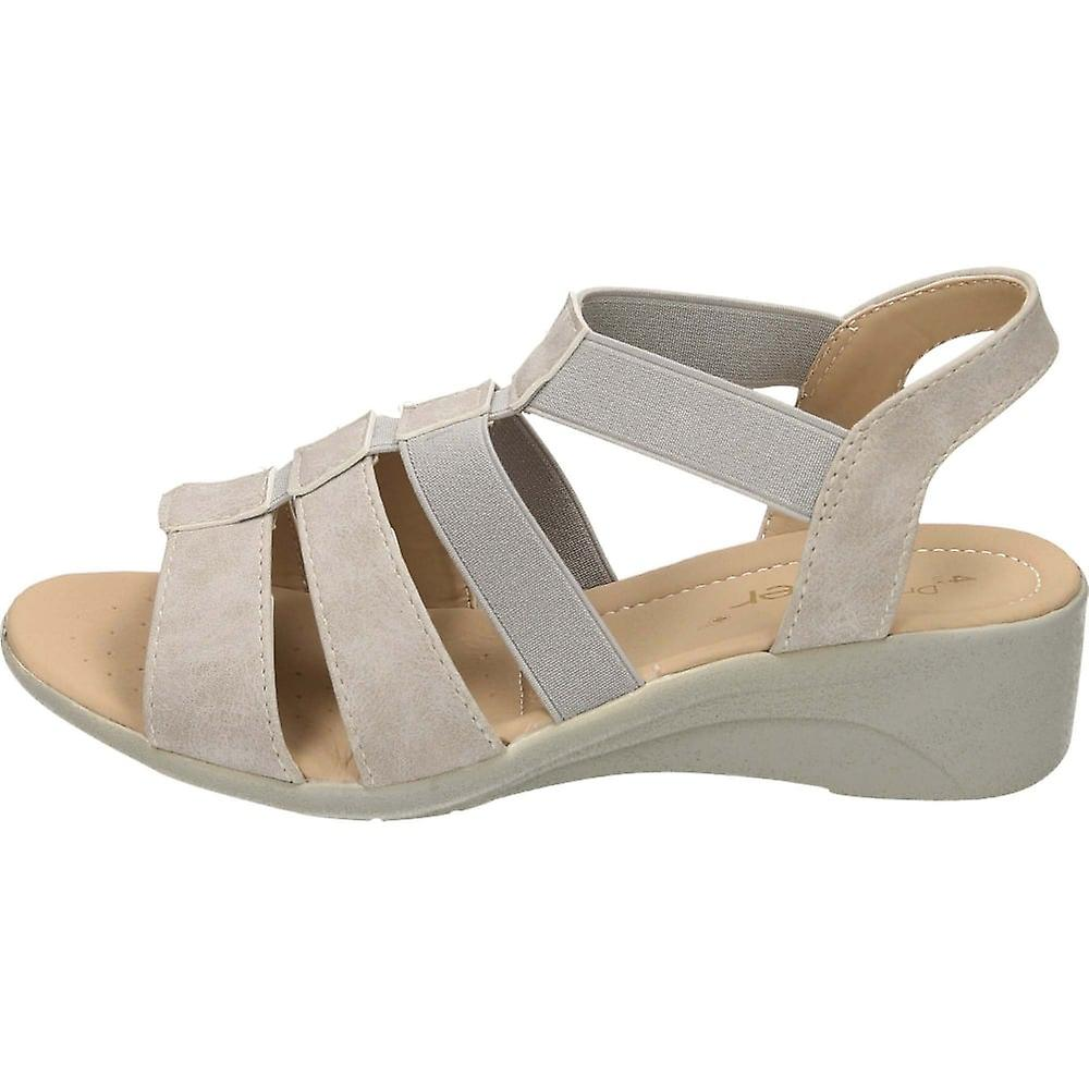 Dr Keller Grey Slingback Wedge Heel Open Toe Gladiator Sandals