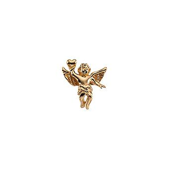 14k Yellow Gold Angel Lapel Pin 17x15.5mm Jewelry Gifts for Men - 2.9 Grams