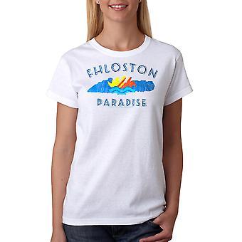 T-shirt blanc le cinquième élément Fhloston Paradise rétro femmes
