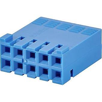 FCI Socket kotelo - kaapeli Mini-PV kokonaismäärä nastat 8 yhteystiedot välistys: 2.54 mm 65239-004LF 1 PCs()