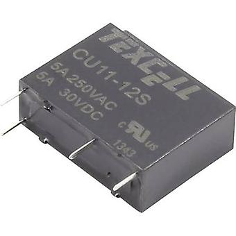 Texcell CU11-12S PCB relay 12 V DC 5 A 1 maker 1 pc(s)