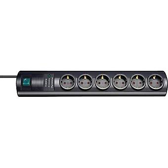 Brennenstuhl 1153300456 Surge protection socket strip 6x Black PG connector 1 pc(s)