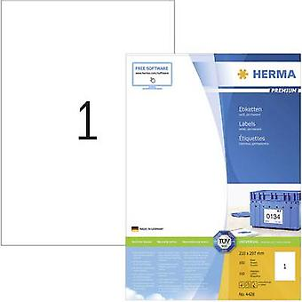 Herma 4428 Labels 210 x 297 mm Paper White 100 pc(s) Permanent All-purpose labels, Shipping labels Inkjet, Laser, Copier 100 Sheet A4