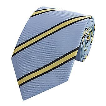 Tie tie tie tie 8cm blue black yellow striped Fabio Farini