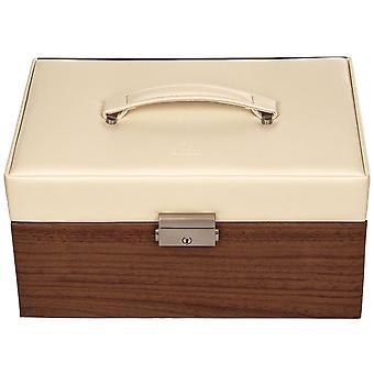 Sacher jewelry case jewelry box NORDIC STYLE beige wood-look Castle mirror