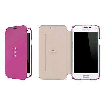 White Diamonds Crystal Booklet Case for Samsung Galaxy S5 Mini - Pink