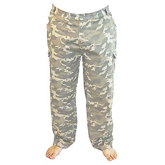 Mens Tom Franks Camo Print Summer Cotton Twill Outdoor Cargo Trousers