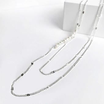 Bcharmd Semi Precious Freshwater Pearl Necklace