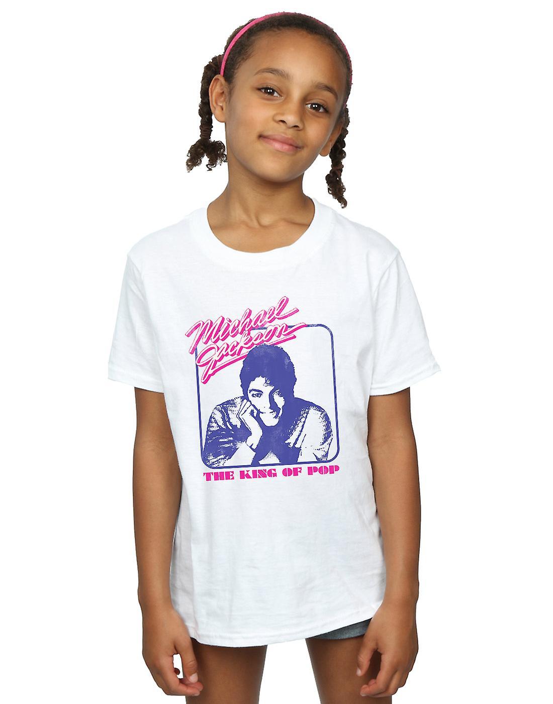 Michael Jackson Girls King Of Pop Portrait T-Shirt