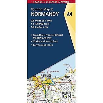 Normandía - AA mapa carretera Francia serie 2 (mapa de la hoja, doblada)
