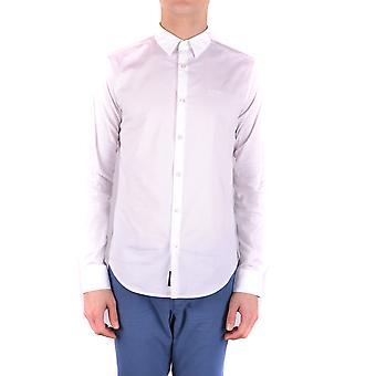 Armani Jeans Ezbc039120 Mænd's Hvid bomuldsskjorte