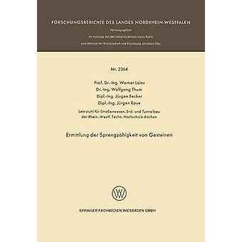 Ermittlung Der Sprengzahigkeit Von Gesteinen durch Leins & Werner