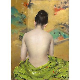 الجزء الخلفي من الجسم، وليام ميريت تشيس، 45.7x33cm