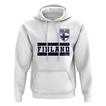 Finland Core fotballen landet Hoody (hvit)