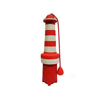 Rogz Lighthouse Fun Floating Throw og Fetch Rubber Dog Toy, 9.5""